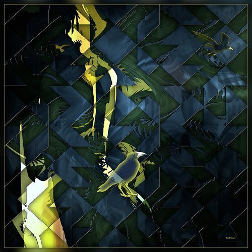 Dieter Bruhns, Inner Cave, Abstraktes, Abstrakte Kunst