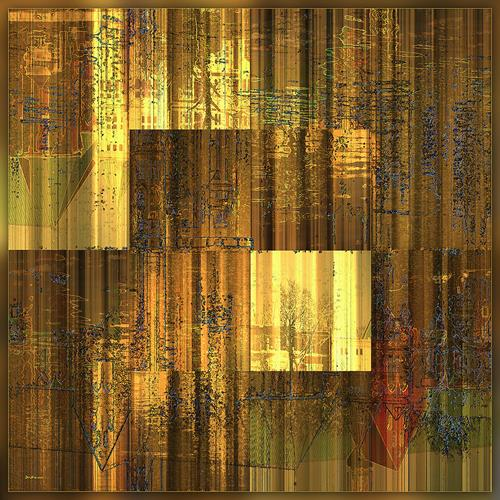 Dieter Bruhns, Mills Lake's Moonlight, Abstraktes, Abstrakte Kunst