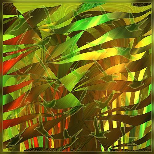 Dieter Bruhns, Dream Forest, Abstraktes, Abstrakte Kunst