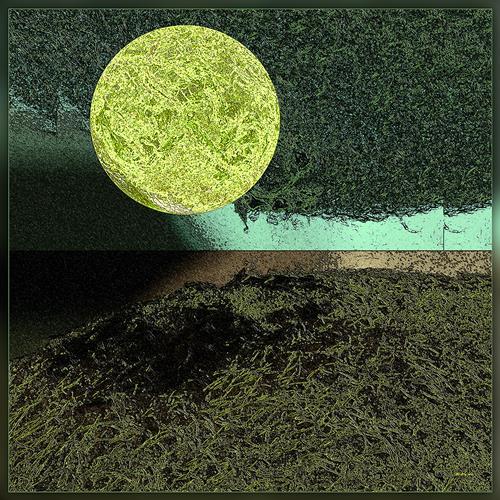 Dieter Bruhns, Spinach Cloud, Abstraktes, Abstrakte Kunst