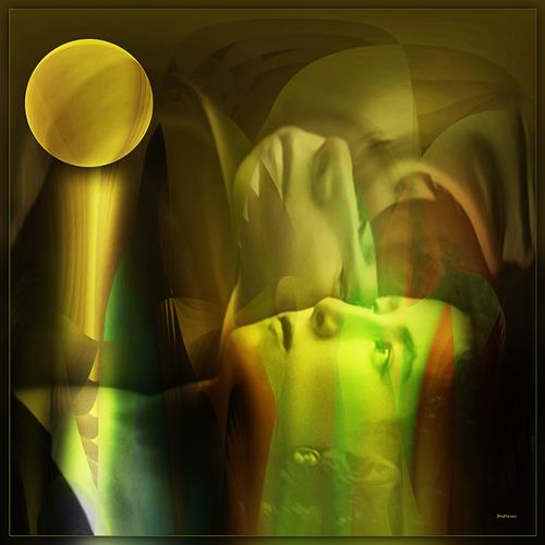 Dieter Bruhns, Sarah and her Moon, Menschen: Porträt, Abstrakte Kunst