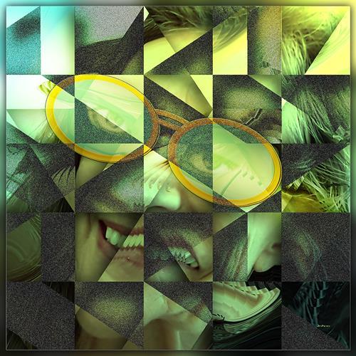 Dieter Bruhns, Sunshiny Face, Abstraktes, Abstrakte Kunst