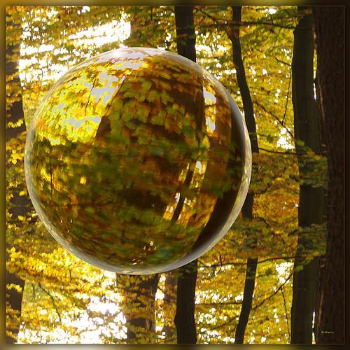 Dieter Bruhns, Autumn Sphere, Natur: Diverse, Abstrakte Kunst