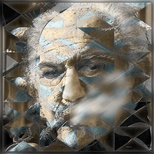 Dieter Bruhns, Autumn Face, Menschen: Porträt, Abstrakte Kunst