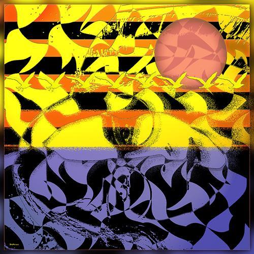 Dieter Bruhns, Abstract Landscape, Abstraktes, Abstrakte Kunst
