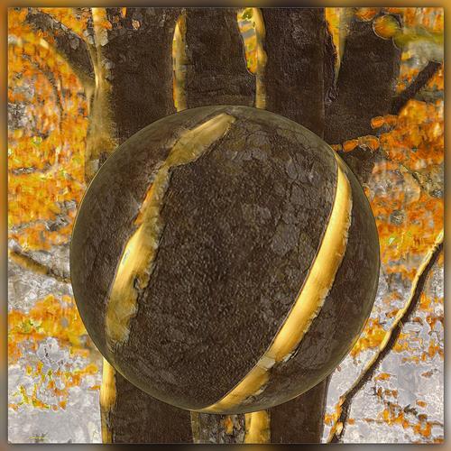 Dieter Bruhns, Heavy Sphere, Landschaft, Abstrakte Kunst