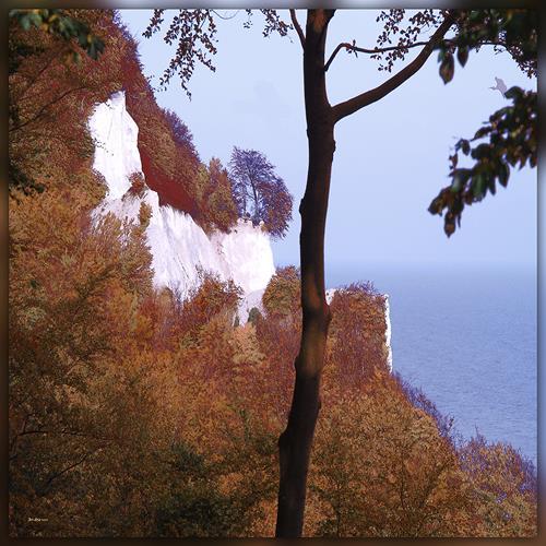 Dieter Bruhns, Chalk Rocks, Landschaft, Abstrakte Kunst
