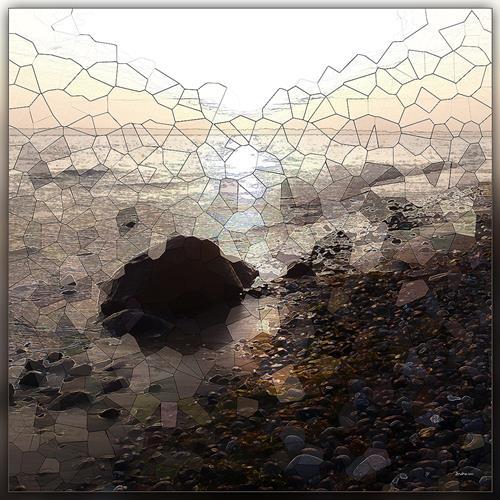 Dieter Bruhns, Stones' Order, Landschaft, Abstrakte Kunst