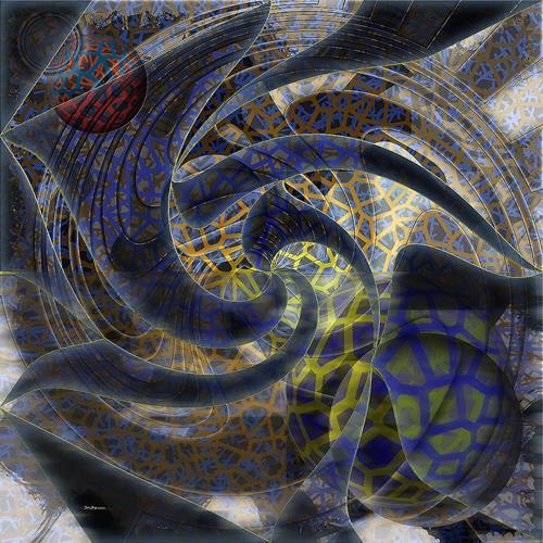 Dieter Bruhns, Circles, Abstraktes, Abstrakte Kunst, Abstrakter Expressionismus