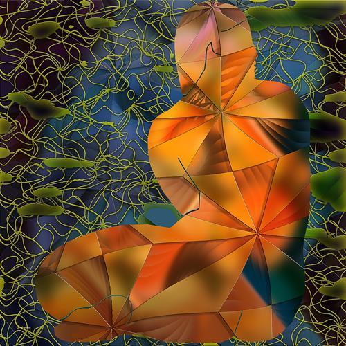 Dieter Bruhns, Green Clouds, Fantasie, Abstrakte Kunst