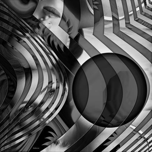 Dieter Bruhns, Playing Stripes, Abstraktes, Abstrakte Kunst