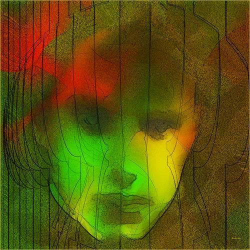 Dieter Bruhns, Abstract Male Portrait, Abstraktes, Abstrakte Kunst