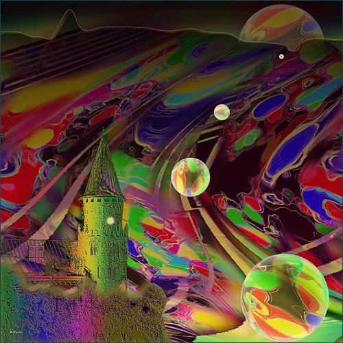 Dieter Bruhns, Traffic Controll, Abstraktes, Abstrakte Kunst