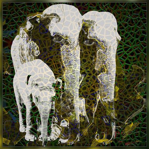 Dieter Bruhns, E-Family, Tiere, Abstrakte Kunst