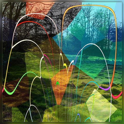 Dieter Bruhns, Meadow Colors, Abstraktes, Abstrakte Kunst