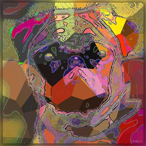 Dieter Bruhns, Pug Abstract, Abstraktes, Abstrakte Kunst
