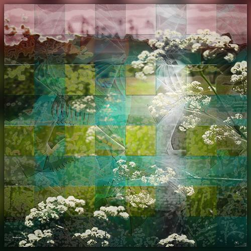 Dieter Bruhns, Spring Meadow, Landschaft, Abstrakte Kunst
