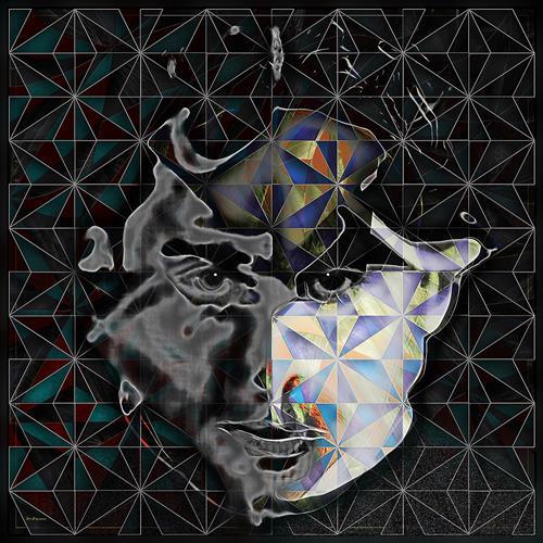 Dieter Bruhns, Spider's Face, Abstraktes, Abstrakte Kunst