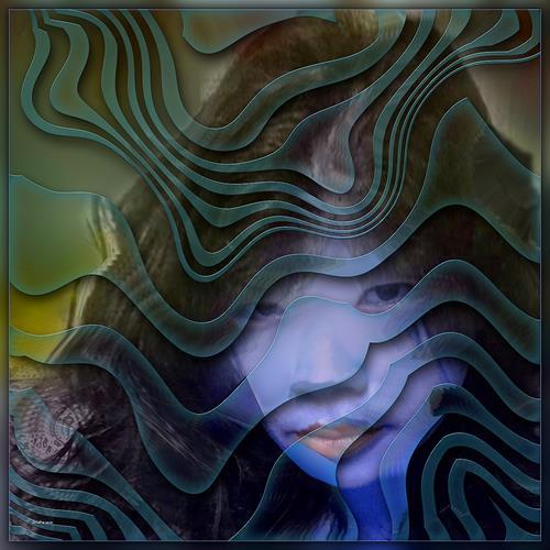 Dieter Bruhns, Mermaid, Fantasie, Abstrakte Kunst