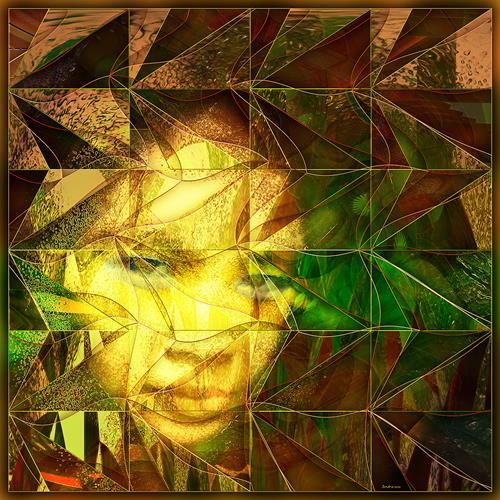 Dieter Bruhns, Side Glance, Fantasie, Abstrakte Kunst