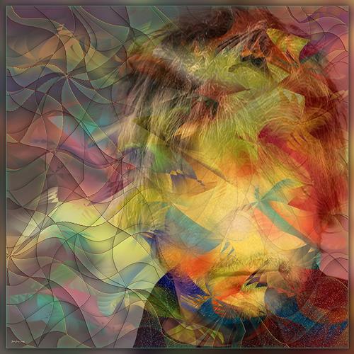 Dieter Bruhns, Hidden in a Sky of Colors, Abstraktes, Abstrakte Kunst