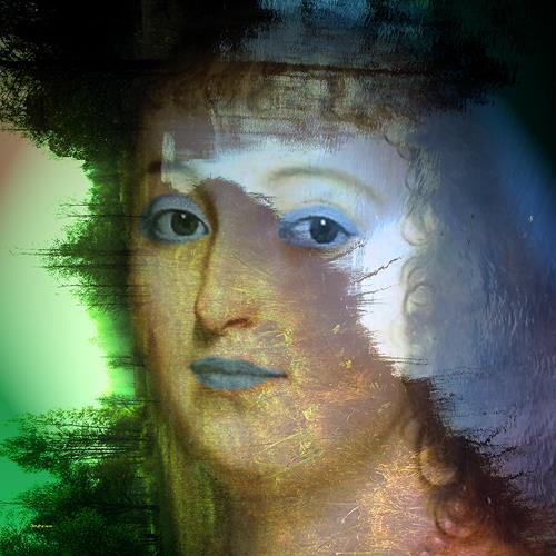 Dieter Bruhns, Flora, Menschen: Porträt, Abstrakte Kunst