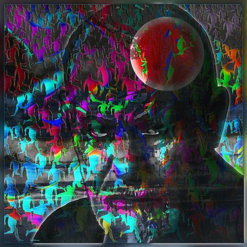 Dieter Bruhns, Move Back the Color in their Lives, Menschen, Abstrakte Kunst