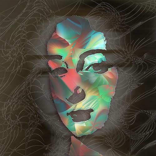 Dieter Bruhns, Clown Face, Menschen, Abstrakte Kunst