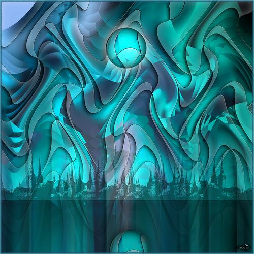 Dieter Bruhns, Strange Moon, Abstraktes, Abstrakte Kunst