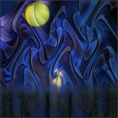 Dieter Bruhns, Cosmic Dance, Abstraktes, Abstrakte Kunst
