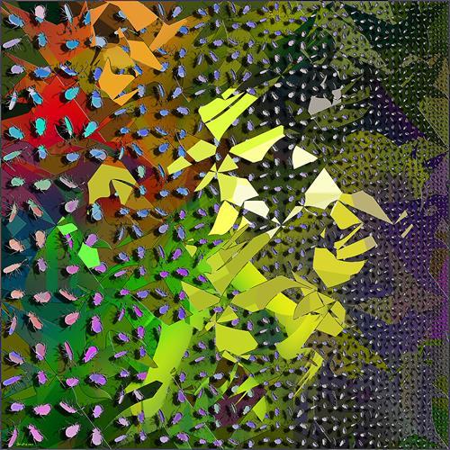 Dieter Bruhns, Break Through, Abstraktes, Abstrakte Kunst