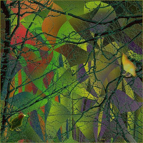Dieter Bruhns, Digital Suite in Green Major, Pre´lude, Abstraktes, Abstrakte Kunst