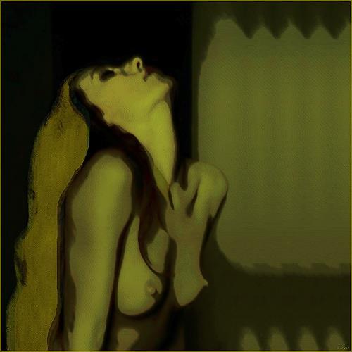 Dieter Bruhns, up, Akt/Erotik: Akt Frau, Bewegung, Gegenwartskunst, Abstrakter Expressionismus