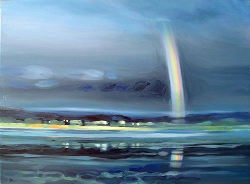Diana Krasselt, Nach dem Regen, Variation III, Gefühle: Freude, Landschaft: See/Meer, Gegenwartskunst
