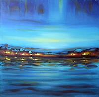 Diana-Krasselt-Gefuehle-Geborgenheit-Landschaft-See-Meer-Gegenwartskunst--Gegenwartskunst-