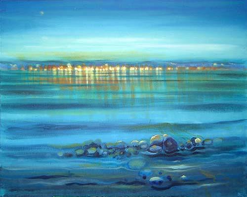 Diana Krasselt, Farben in Italien, Landschaft: See/Meer, Landschaft: Sommer, Moderne