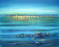 Diana-Krasselt-Landschaft-See-Meer-Landschaft-Sommer-Moderne-Moderne
