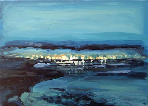 Diana Krasselt, Sommerabend, Landschaft: Sommer, Landschaft: Sommer, Moderne