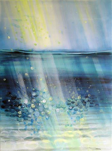 Diana Krasselt, Wasser, Variation II, Natur: Wasser, Bewegung, Moderne