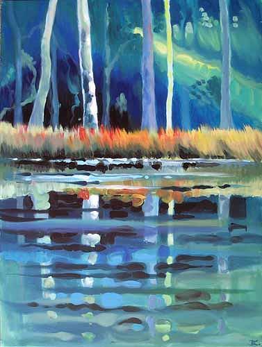 Diana Krasselt, Waldstimmung, Natur: Wald, Landschaft: Sommer, Moderne