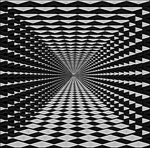 Edeltraud Kloepfer, Composition 3, Abstraktes, Op-Art, Expressionismus