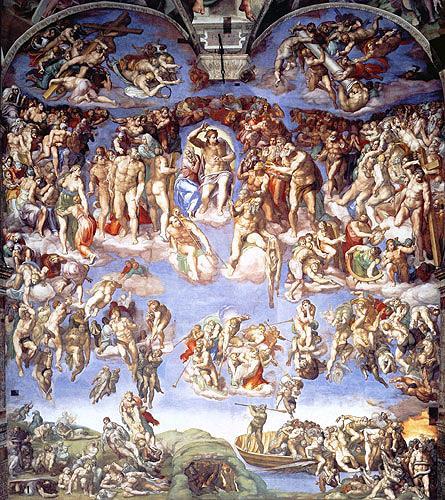 Michelangelo, Das Jüngste Gericht, Religion, Manierismus