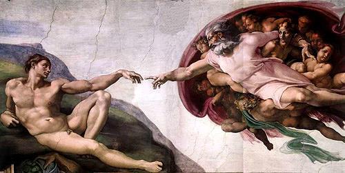 Michelangelo, Die Erschaffung des Adam, Menschen: Gruppe, Religion, Manierismus