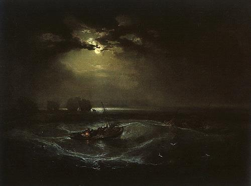 William Turner, Fishermen at Sea, Landschaft: See/Meer, Verkehr: Schiff, Romantik