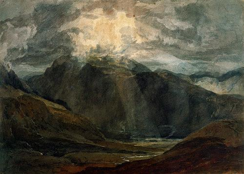 William Turner, Llanberis, Landschaft: Berge, Romantik