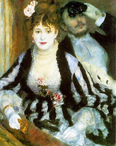 Pierre-Auguste Renoir, La loge, Menschen: Paare, Freizeit, Impressionismus