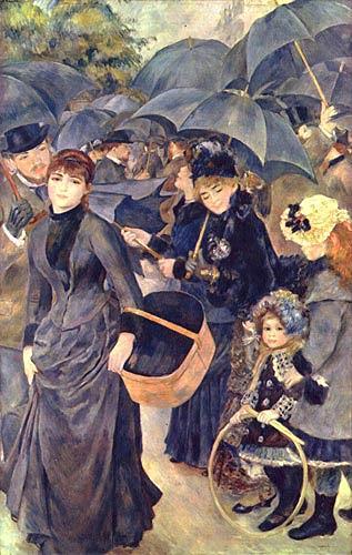 Pierre-Auguste Renoir, Regenschirme, Menschen: Gruppe, Impressionismus