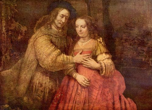 Rembrandt Hamerszoon van Rijn, Die Judenbraut (Das Brautpaar), Gefühle: Liebe, Menschen: Paare, Barock