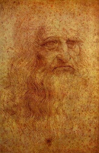 Leonardo da Vinci, Selbstbildnis, Menschen: Porträt, Menschen: Mann, Renaissance