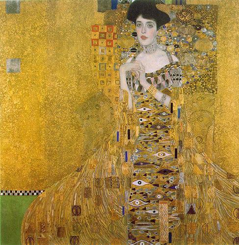 Gustav Klimt, Porträt der Adele Bloch-Bauer, Menschen: Frau, Gefühle: Stolz, Jugendstil
